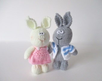 Harry and Hatty Hare toy knitting patterns