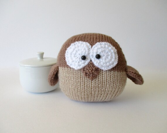 Barney Owl toy knitting pattern