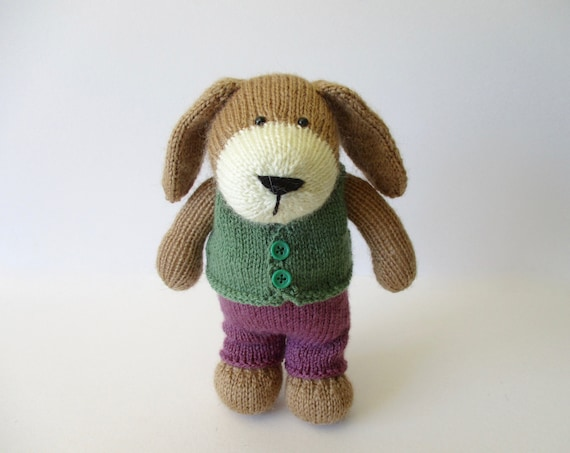 Puppy toy knitting pattern