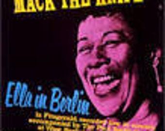 Ella Fitzgerald vinyl - Mack the Knife - Ella in Berlin Live in Concert - Vintage Record lp in EX+  Condition.