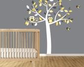 Wall decals nursery - Nursery wall decal - Yellow decal - Children Wall decal - Nursery Tree Vinyl Decal - Nursery decals - nursery
