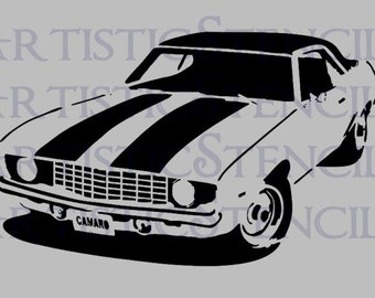 STENCIL 1969 Camaro - Various Sizes
