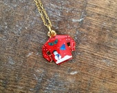 Your Mom's Ugly Christmas Sweater Charm Necklace