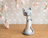 Lilac Point Siamese Cat Sculpture by Bonjour Poupette