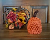 Chunky Pumpkin Orange Newborn Stem Hat