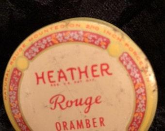 x Vintage Heather Rouge Tin - Like NEW Whitehall Company, NY (FF0816-37LL)