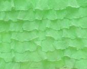 """Destash: 1"""" Neon Lime Green Xtra-ruffly"""