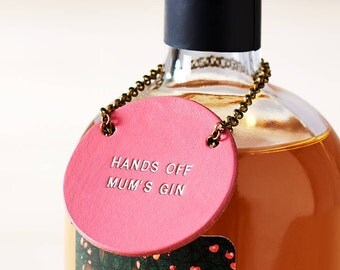 Personalised Leather Bottle Tag.