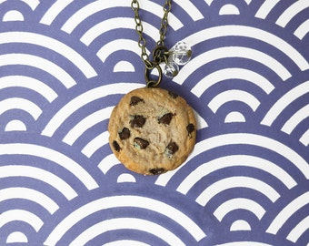 Cookie Necklace - Bronze - Miniature Food