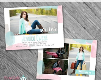 Water Color Grad Ann 4- custom photo templates for photographers on Whcc, Millers and ProDigitalPhot