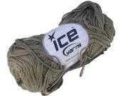 Organic Cotton Yarn in Khaki Green-Beige from ICE Yarns, Sport Weight, 1 Skein