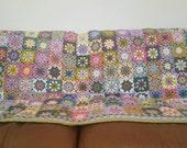 RESERVED Flower Granny Squares Blanket Mandy Bradford