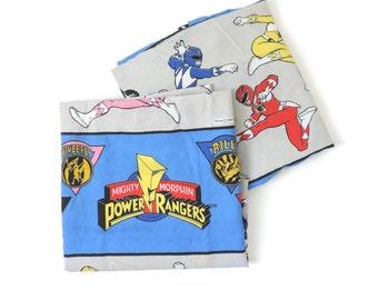 Power Ranger Sheet Set Bedding Set Top Flat Sheet Fitted Sheet Twin