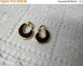 CIJ 60% SAVINGS Avon Shades of Reversible Brown Beige clip Earrings Mint Condition