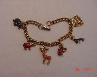 Vintage Los Angeles Zoo Charm Bracelet   16 - 321