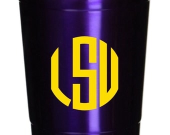 NEW Stainless Steel 18oz Colored Tumbler with Monogram