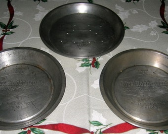 3 Vintage Advertising Pie Tins Table Talk Mrs. Robbinson's