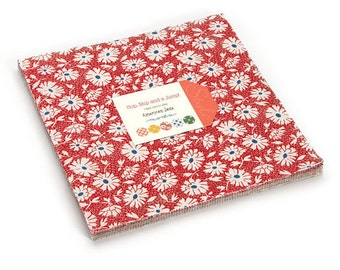 """Moda Cotton Layer Cake, HOP SKIP and A Jump,  By American Jane for Moda,  10"""" Inch Cotton Quilting Fabric Squares"""