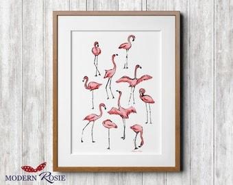 Flamingos -  print or card
