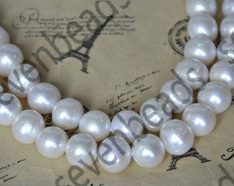 Single AA 8-8.5mm White Freshwater Cultured Pearl Beads Gemstone ,Freshwater Cultured Pearl Beads loose strand
