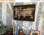 World Map - Travel Quote - Wood Map - Wooden Map - World Map - Wooden World Map - Map Wall Hanging - Map Of The World - Rustic Home Decor -