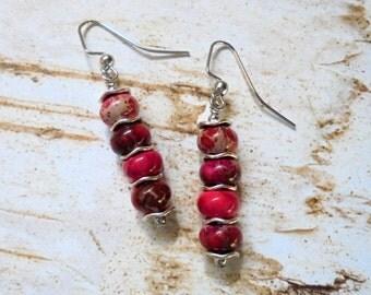 Pink Sea Sediment Earrings (2964)