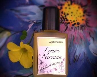 Natural perfume LEMON NIRVANA with Meyer Lemon Blossom extract, tuberose, neroli, honey, lemon peel, ambrette seed