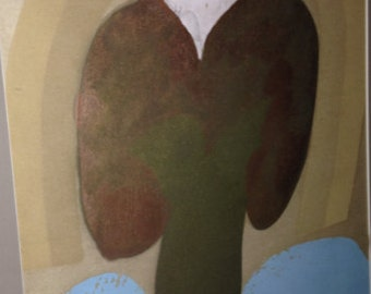 "Carol Summers - ""Valentine,"" Woodcut, 11/75, Signed"