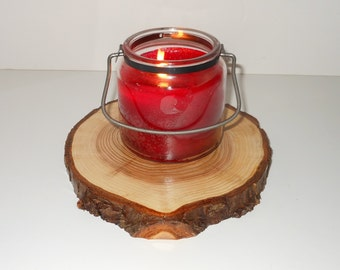 Western Red Cedar 8 - 9  inch Diameter Tree Platter For Rustic Tree Slice Centerpiece Rustic Wedding/Party Photo Prop