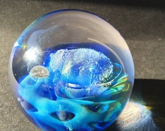 SEEGERS and FEIN Exotic Underwater Celestial Ocean Mermaid Paperweight