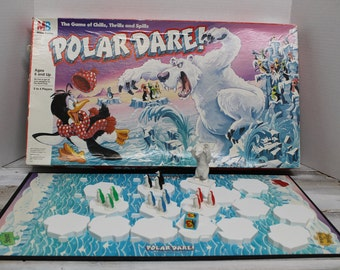 1991 Milton Bradley Polar Dare Board Game, The Race to the North Pole, Complete