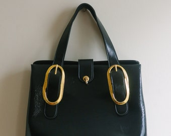 Black Gold Purse Handbag