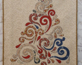 Swirling TreeFiber Art in Traditional Neutral Colors