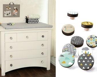 Drawer Knobs, Scandinavian design Knobs, Cupboard Door handle for chest of drawers, wardrobes & kitchen doors Knobs  1.8 inches