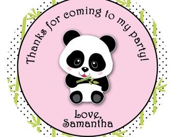 Panda Sticker  Panda Birthday Party Sticker Panda Favor Tag