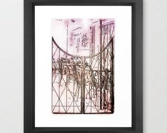 Fine Art Print Quaint French Bistro Cafe