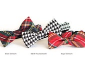 New Color! dog collar and bowtie, pet gift, Designer dog Bow tie Collar, cat bow tie collar, pet bow tie, tartan, plaid, check, houndstooth