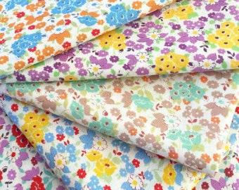 Fat quarter bundle of tiny floral bouquet from the Retro 30's Child Smile Fall 2016  fabric collection by Lecien of Japan