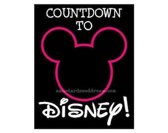 Disney Countdown - Chalkboard Vinyl - Vinyl, Graphics, Lettering, Stickers