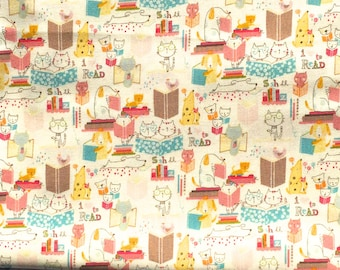 Alexander Henry fabric I Love to Read pastel FQ or more
