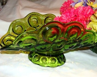 Apple Lime Green Vintage MOON & STARS Fruit BOWL