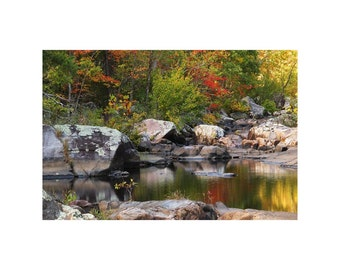 "Fine Art Color Landscape Photography of Missouri Ozarks - ""Autumn in Reader Hollow 1"""