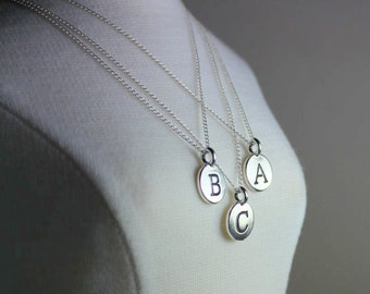 Initial Necklace, Initial Jewelry, Silver Letter Initial Necklace, Letter Jewelry, Personalized Jewelry, Ask  Questions