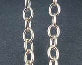 Cable Chain, Sterling Chain, Silver Chain, 4mm Cable Chain, Heavy Chain, Extension Chain, Soldered Links, For Charm Bracelet