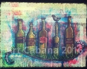 Wine bottles in the Grass