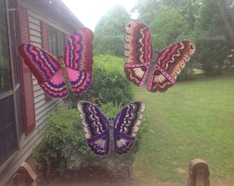 Pink, Pink and more Pink Butterflies made from recycled 2 liter drink bottles