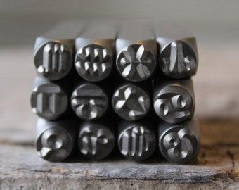 Zodiac Set- Metal Design Stamp Set-12 -WHOLE SET 6mm Metal Stamp-Metal Supply Chick-ZOD12