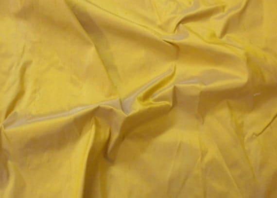 silk dupioni fabric - gold color 100% pure silk - fat quarter - sld010