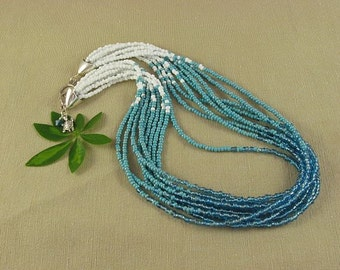 Turquoise ombre necklace