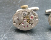 Stunning watch movement cufflinks ideal gift for a wedding, birthday or anniversary